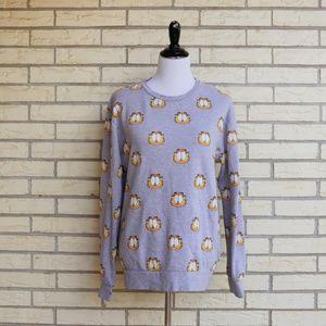 Vintage Style Garfield Sweatshirt All Over Print L